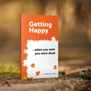 Getting Happy ...when you wish you were dead book cover and affiliate link